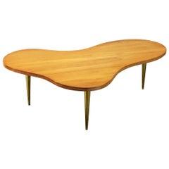 Large T.H. Robsjohn-Gibbings Coffee Table 'Model 1759' in Maple