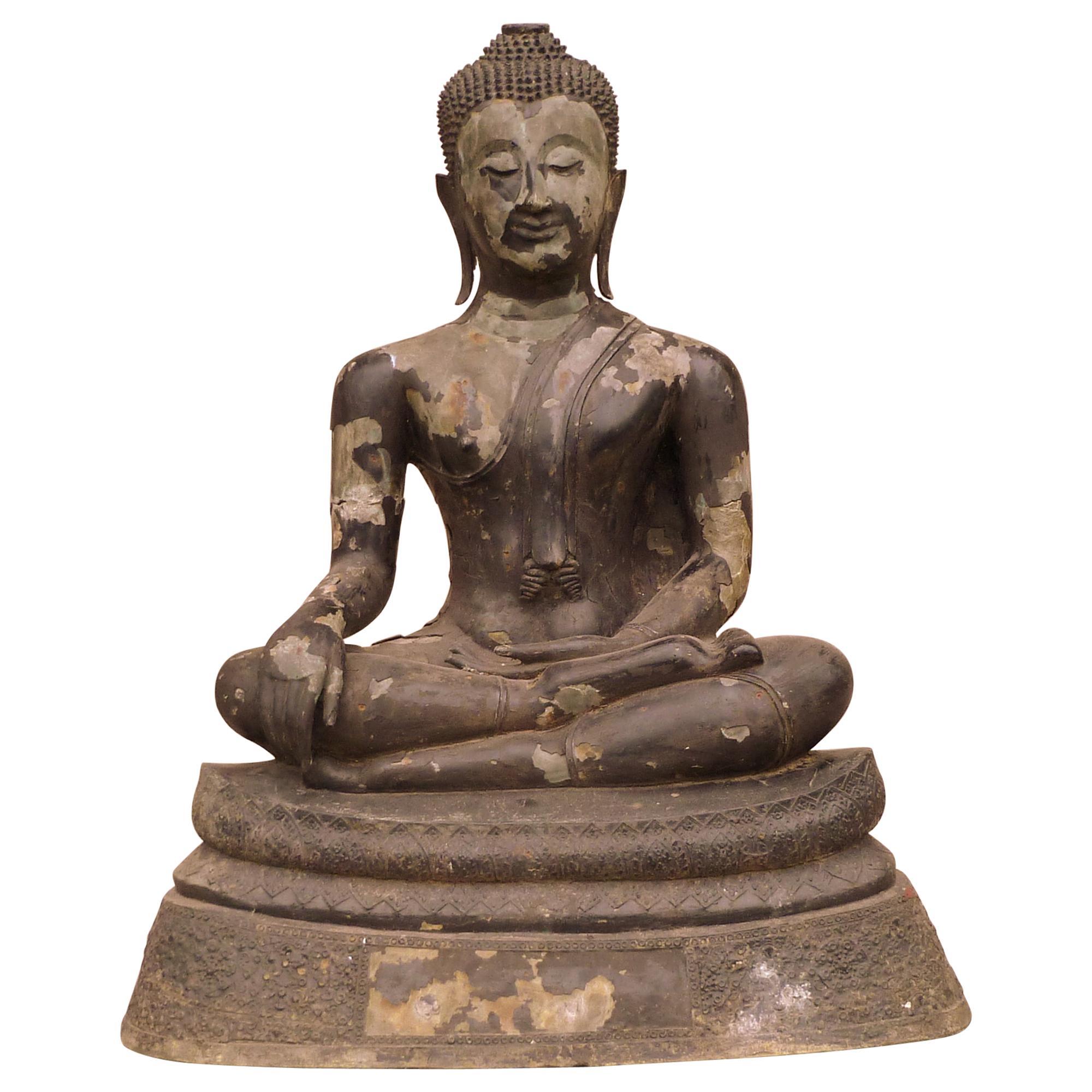 Large Thai Bronze Buddha