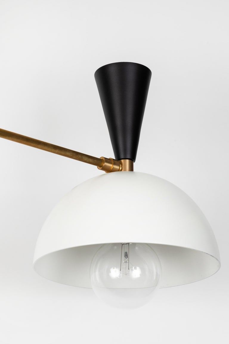 Large Three-Cone 'Lola II' Chandelier in Black and White For Sale 3