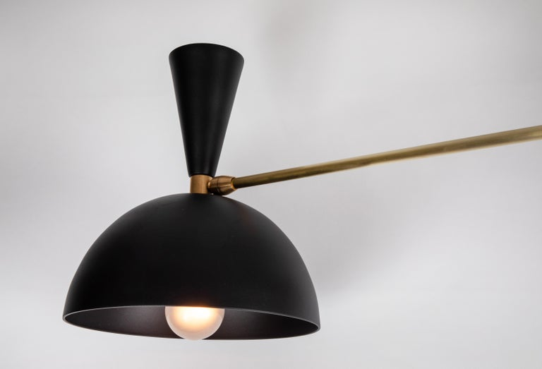 Contemporary Large Three-Cone 'Lola ii' Chandelier in Black For Sale