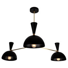 Large Three-Cone 'Lola ii' Chandelier in Black