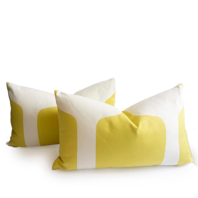 Large Throw Pillows in Art Deco Printed Cotton For Sale 2