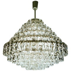 Large Tiered Crystal Chandelier