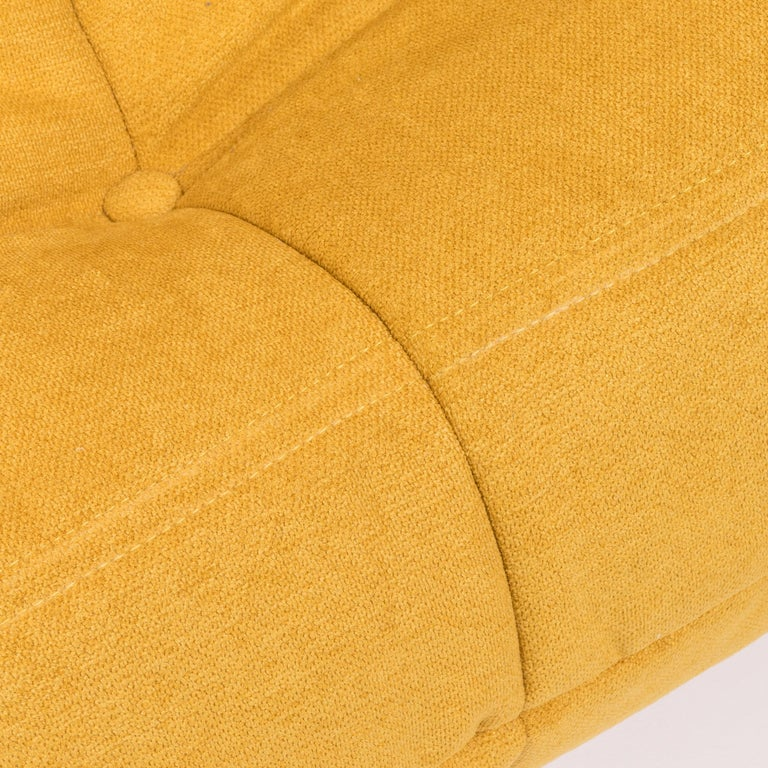 Large Togo Yellow Fabric Sofa by Michel Ducaroy for Ligne Roset For Sale 5
