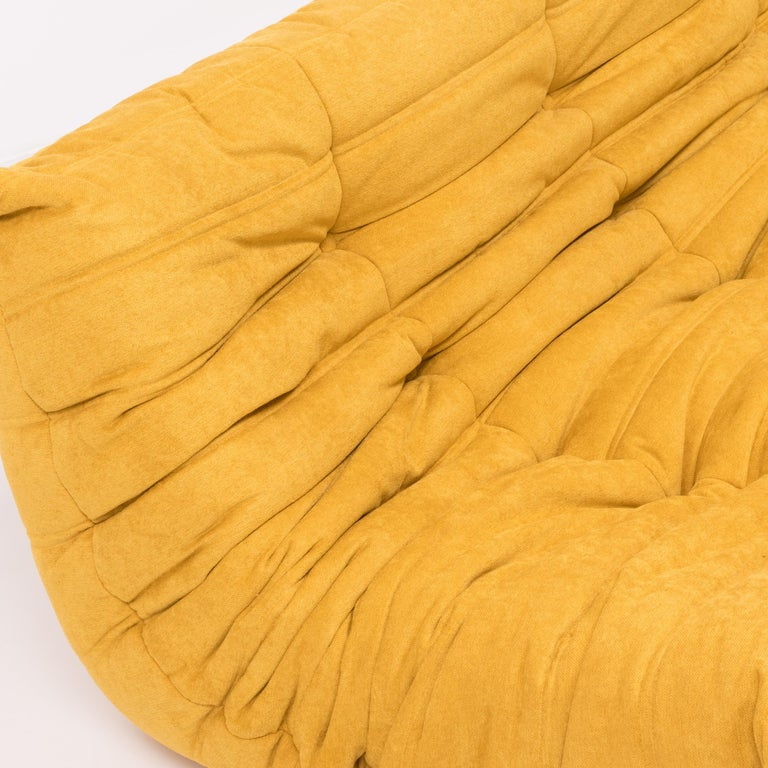 Large Togo Yellow Fabric Sofa by Michel Ducaroy for Ligne Roset For Sale 1
