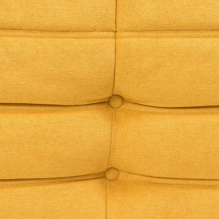 Large Togo Yellow Fabric Sofa by Michel Ducaroy for Ligne Roset For Sale 3