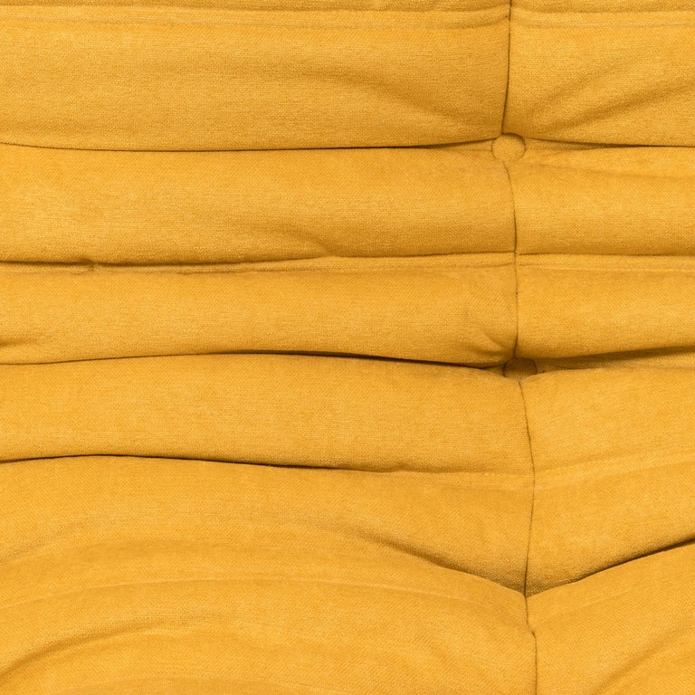 Large Togo Yellow Fabric Sofa by Michel Ducaroy for Ligne Roset For Sale 4