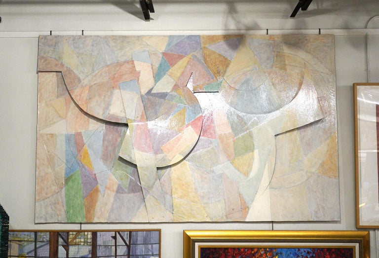 Large Tom Holland Tri-Dimensional Abstract Painting 1986 on Fiberglass For Sale 4