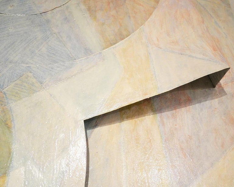 American Large Tom Holland Tri-Dimensional Abstract Painting 1986 on Fiberglass For Sale