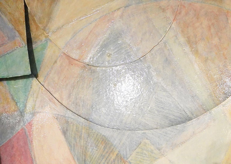 Large Tom Holland Tri-Dimensional Abstract Painting 1986 on Fiberglass In Good Condition For Sale In Ft. Lauderdale, FL