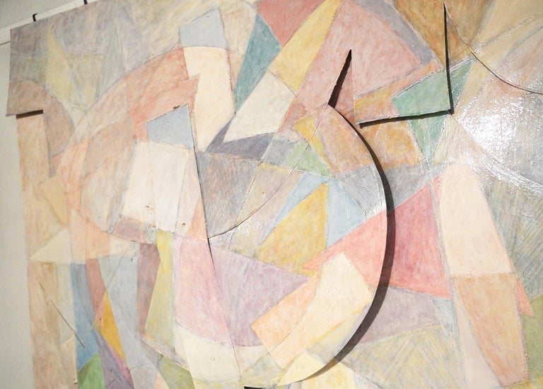 20th Century Large Tom Holland Tri-Dimensional Abstract Painting 1986 on Fiberglass For Sale