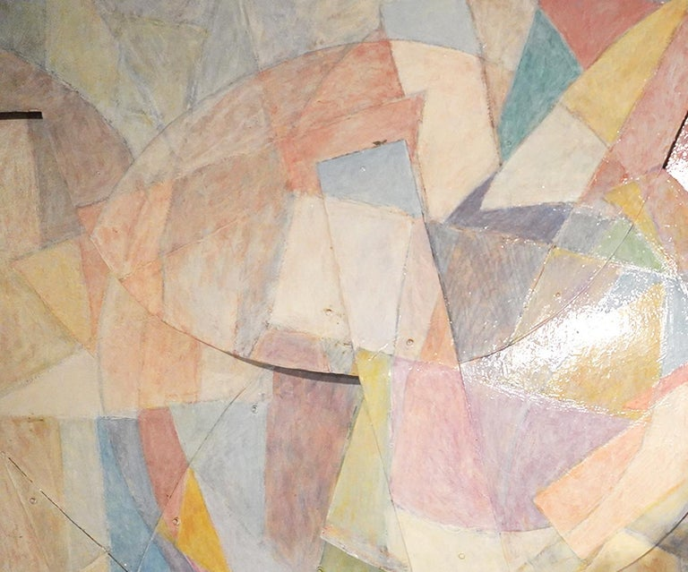 Large Tom Holland Tri-Dimensional Abstract Painting 1986 on Fiberglass For Sale 1