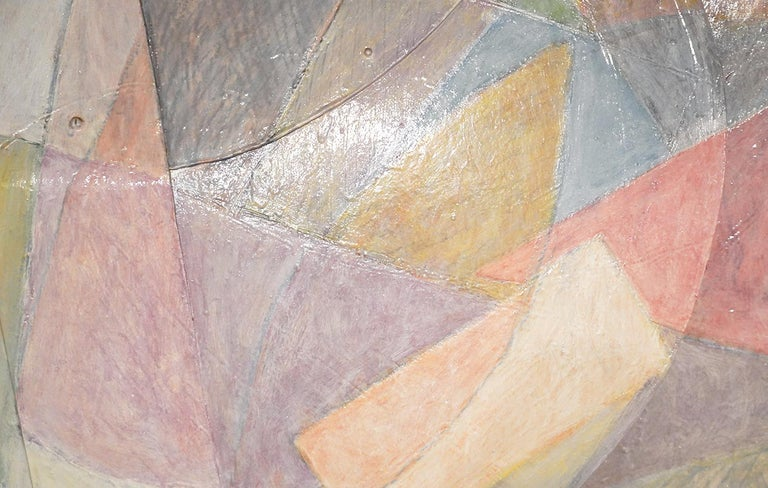 Large Tom Holland Tri-Dimensional Abstract Painting 1986 on Fiberglass For Sale 2