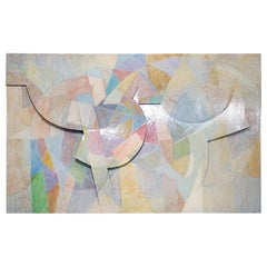 Large Tom Holland Tri-Dimensional Abstract Painting 1986 on Fiberglass