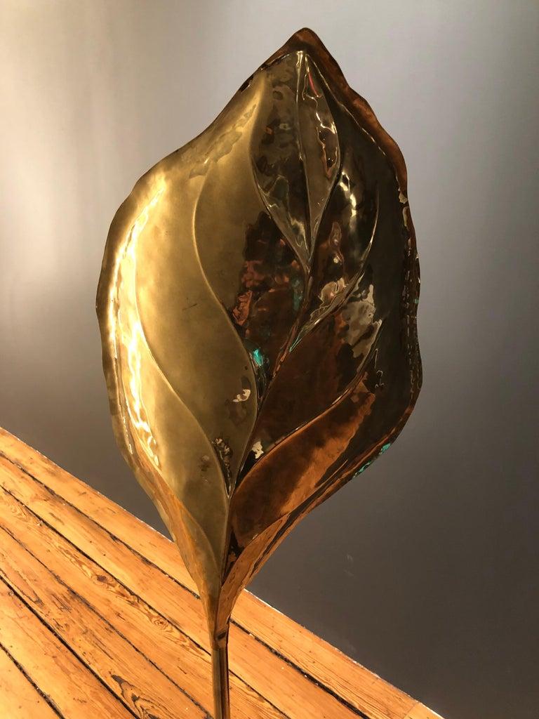 Brass Large Tomaso Barbi Floorlamp For Sale