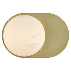 Large 'Toogle' Sconce in Brass and Alabaster