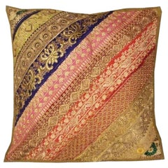 Large Traditional Hand-Worked Indian Vintage Cushion or Pillow Cover