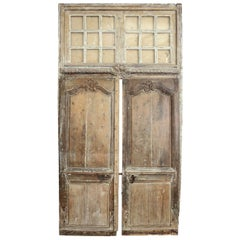 Large Transomed Louis XV Doors