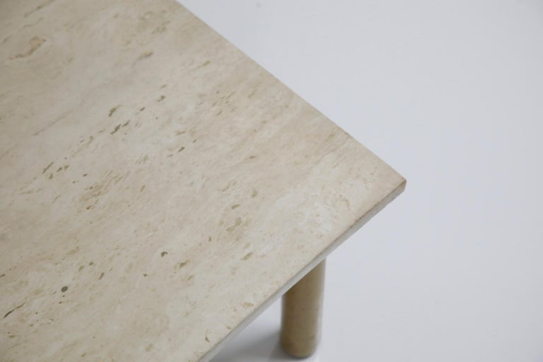 Large Travertine Cocktail Table by T.H. Robsjohn Gibbings for Widdicomb, Signed For Sale 3