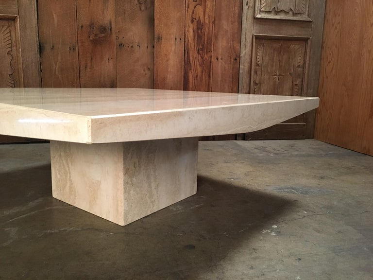 Large Travertine Coffee Table For Sale At 1stdibs