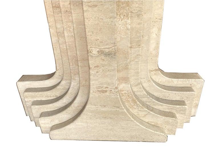 Large Travertine Pedestal