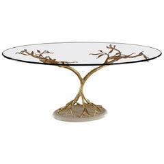 Large Tree-Like Glass Table by Banci