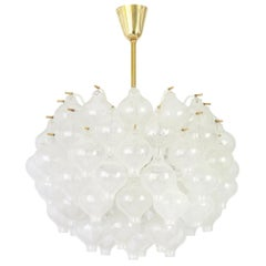 1 of 6 Large Tulipan Glass Chandelier by Kalmar, Austria, 1960s