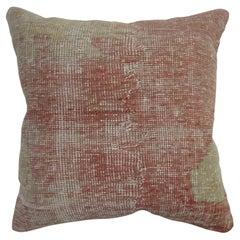 Large Turkish Oushak Rug Pillow