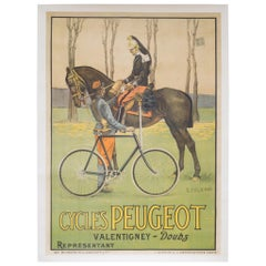 Large Turn of the Century French Army Poster, circa 1900