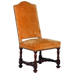 Large Turned Wood Baroque Style Chair