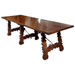 Large, Tuscan, Walnut Dining Table