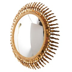 "Large ""Twisted Sun"" Mirror by Line Vautrin"