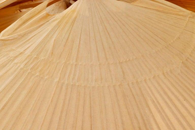 Large 'Uchiwa' Pendant Light Chandelier, Ingo Maurer, Bamboo Paper, 1970s 10