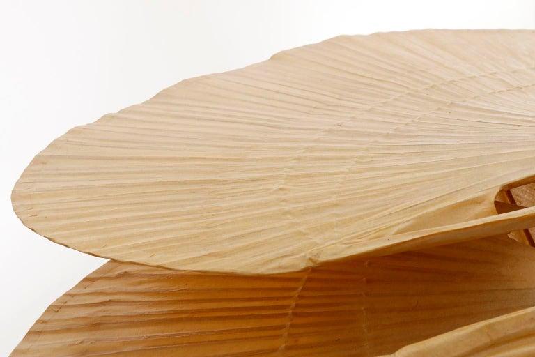 Large 'Uchiwa' Pendant Light Chandelier, Ingo Maurer, Bamboo Paper, 1970s 11