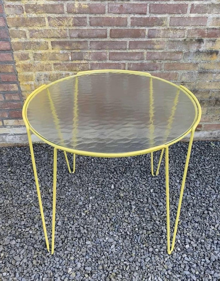 Dutch Large Unica Side Table by Arnold Bueno de Mesquita for Spurs, circa 1955 For Sale