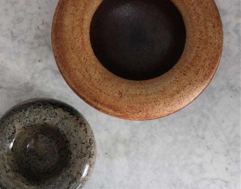 Large Unique Alev Siesbye Stoneware Bowl from the 1960s for Royal Copenhagen In Excellent Condition For Sale In Odense, DK