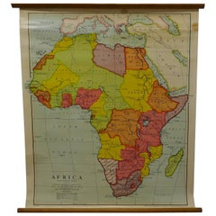 "Large University Chart ""Physical Map of Africa"" by Bacon"