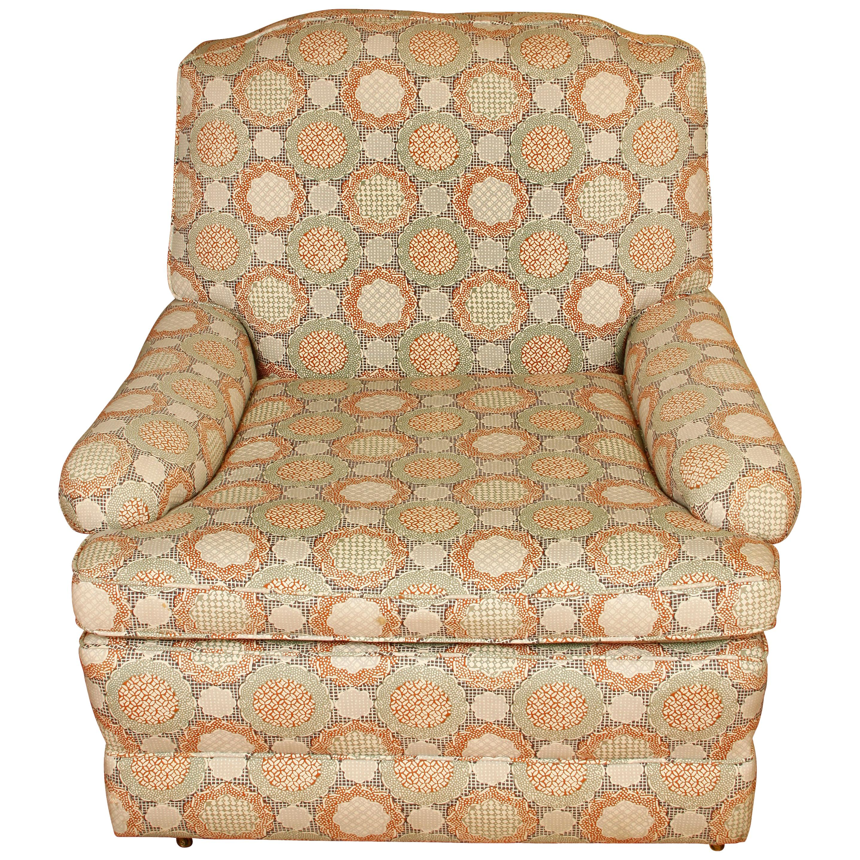 Large Upholstered Linen London Club Chair