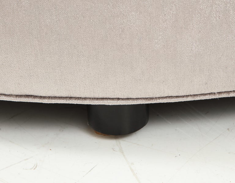 Upholstery Large Upholstered Ottoman For Sale