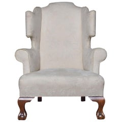 Large Upholstered Wingback Armchair