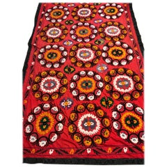 Large Uzbek Suzani Embroidery Wall Hanging