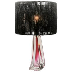 Large Val Saint Lambert Crystal Table Lamp, Excellent Condition