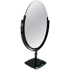 Large Vanity Mirror in Black Nickel by Charles Hollis Jones