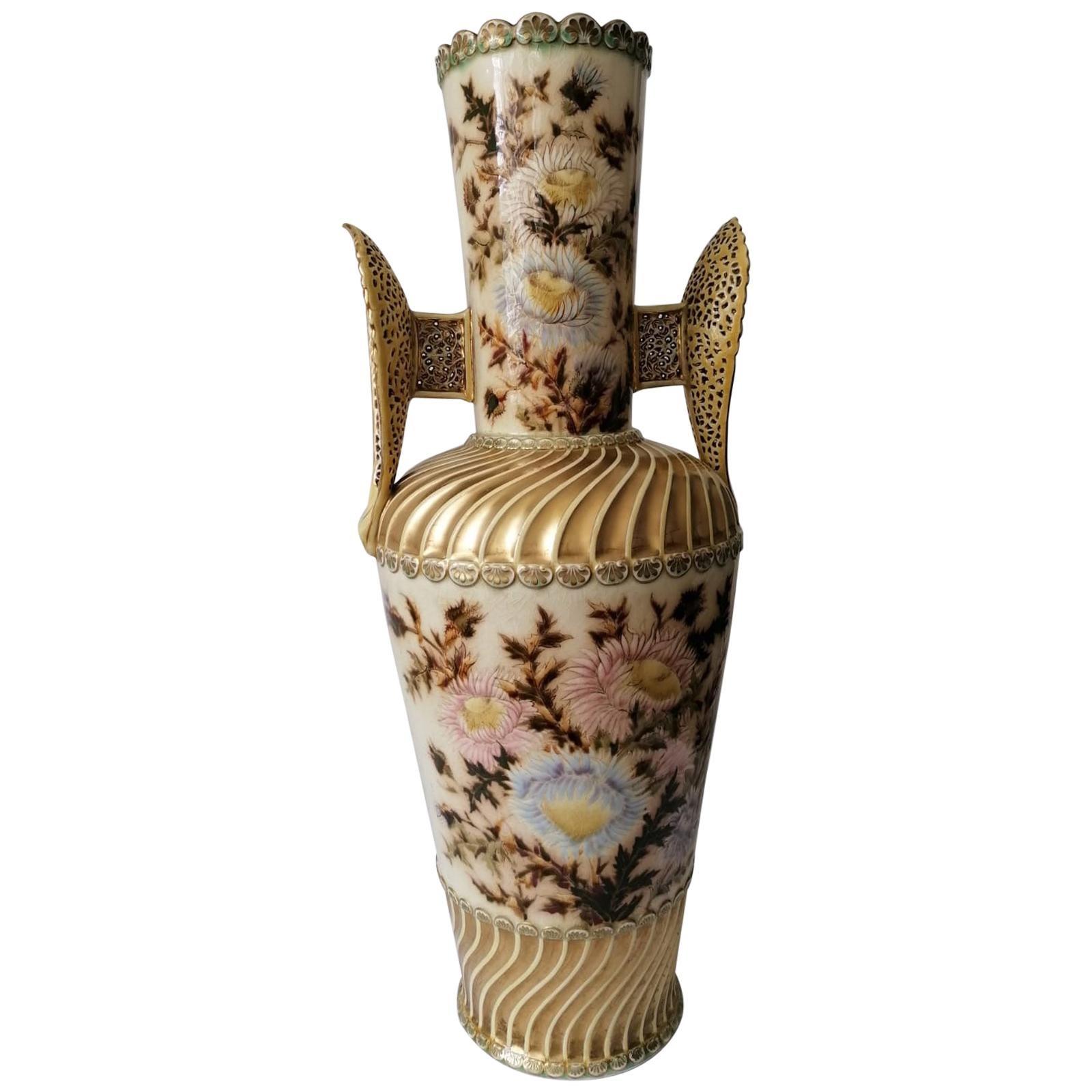 Large Vase by Zsolnay