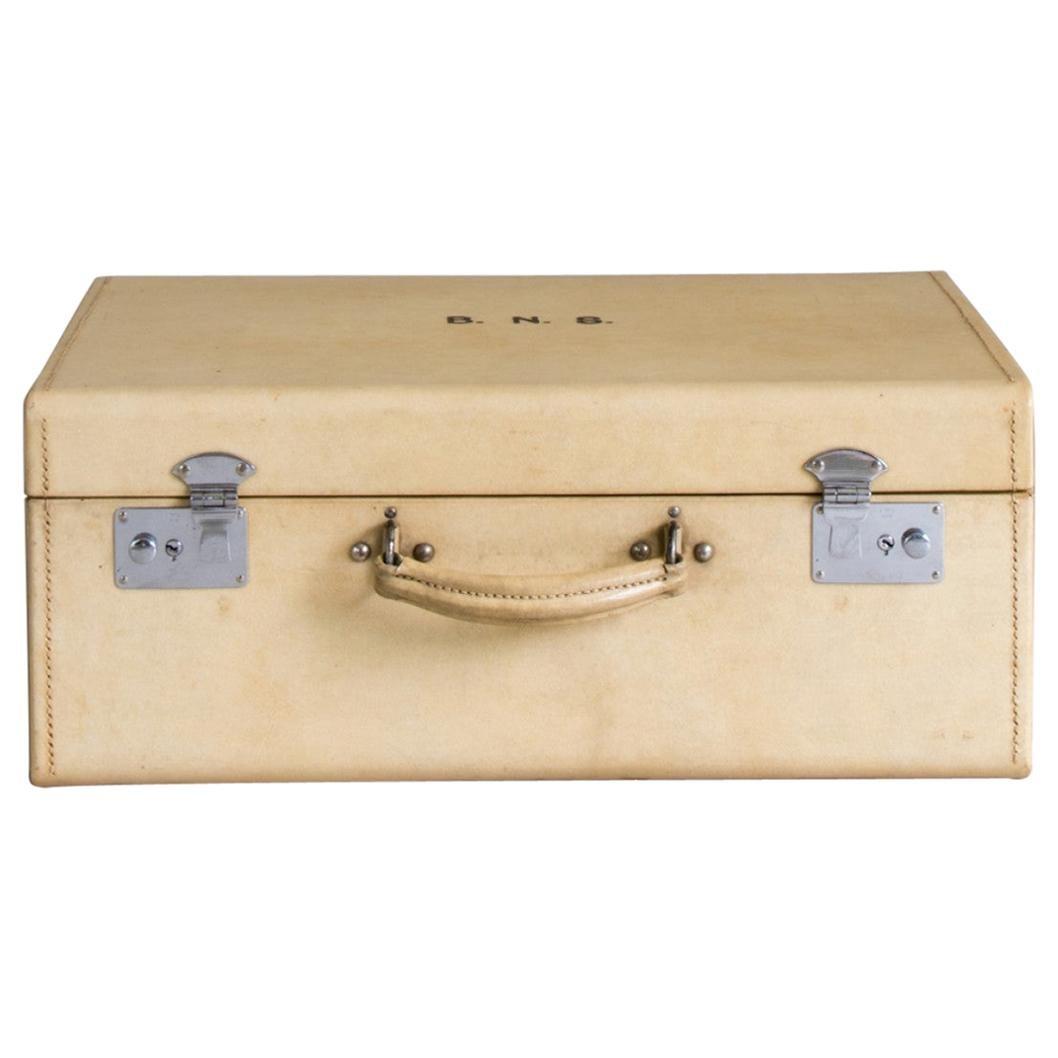 Large Vellum Suitcase, circa 1920