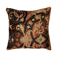 Large Velvet Throw Pillow with Embroidery by Zuber