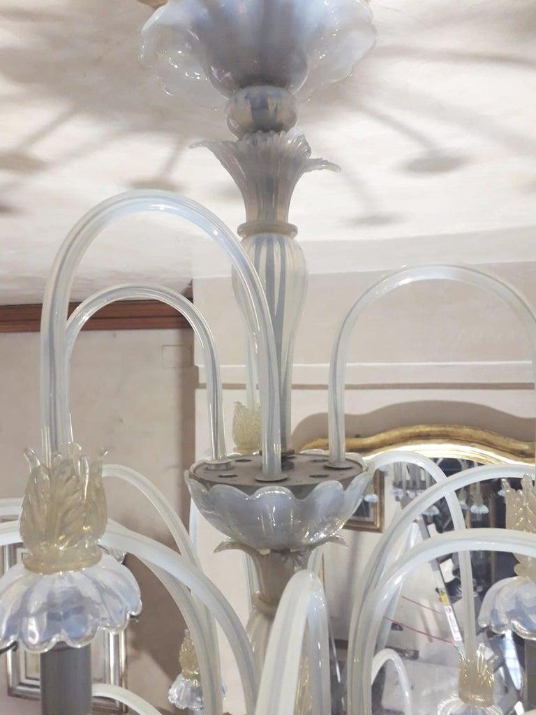 Large Venetian Opaline Chandelier For Sale 2