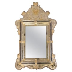 Large Venetian Rococo-Style Mirror