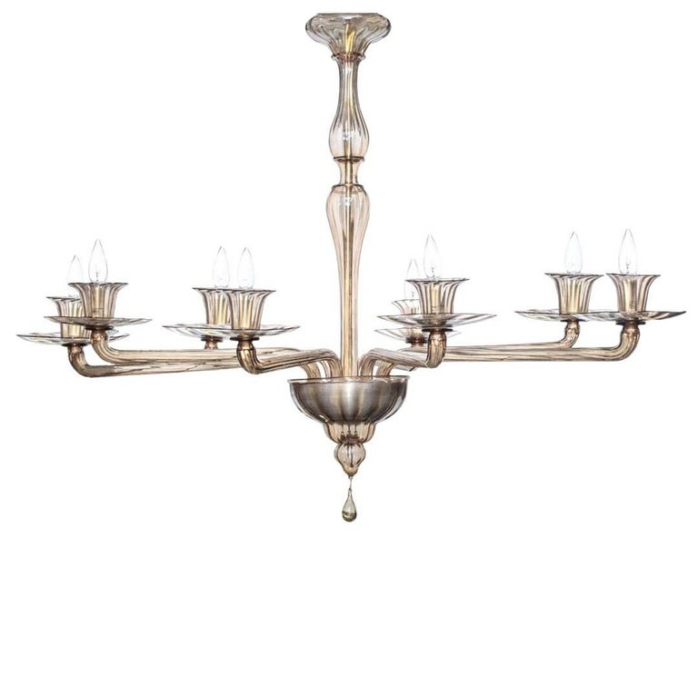 Large venini chandelier in fume glass for sale at 1stdibs large venini chandelier in fume glass for sale aloadofball Image collections