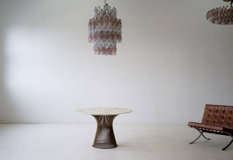 Large Polyhedr Venini Glass Chandelier Lamp Light Poliedri by Carlo Scarpa For Sale 3